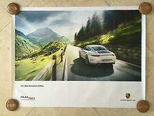 Porsche Original Factory Poster-2014 Carrera 911 | 991 50th Anniversary-Mountain