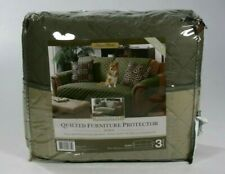 Quilted Microfiber Pet Dog Couch Sofa Reversible Furniture Protector Sage Olive