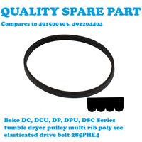 BEKO DC7110S DC7110W DC7112W DC7120 DC713 Tumble Dryer Drive Belt 4PHE285