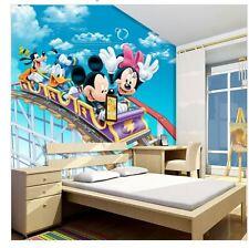 happy  mural Mickey Mouse mural 3d cartoon wallpaper sticker kids children baby