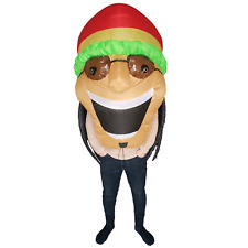 Adults Jamaican Inflatable Costumes Halloween Cosplay Party Fancy Dress Big Head