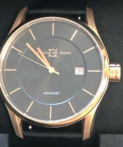 OFFICINA DEL TEMPO MADE IN ITALY OT1033-4300MGMROSE GOLD COLOUR AND BLACK