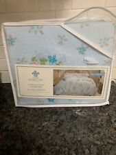 NEW SIMPLY SHABBY CHIC queen duvet cover set Rachel Ashwell blue pink lily rose