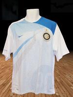 Nike Inter Milan Entrenamiento de Fútbol Previo Partido Camiseta Blanca Turquesa