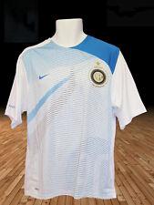 NIKE NEUF INTER MILAN ENTRAÎNEMENT FOOTBALL T-SHIRT AVANT MATCH blanc turquoise
