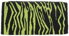 "Tough 1 34x36"" neon green zebra print 5 pound wool saddle blanket horse tack"