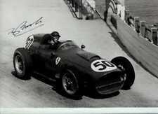 Tony Brooks Ferrari Dino 246 Monaco Grand Prix 1959 Signed Photograph