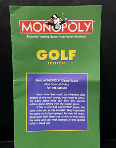 Game Parts Pieces Monopoly Golf Edition 1998 Parker Brothers Rules Instructions