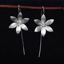 Threader Drop Earring Flower Dangle Hoops Retro Unique Ear Crawler Long Ear Line