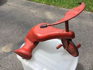 Genuine Antique Sky King Sky Tot Red Art Deco Tricycle All Original Paint Parts