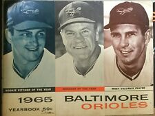 1965 BALTIMORE ORIOLES Yearbook- Bunker/Bauer/Brooks Cover (Oversized Issue)