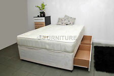 4ft6 Double Divan Bed, Storage and 25cm Deep Orthopaedic Mattress! FACTORY SHOP!