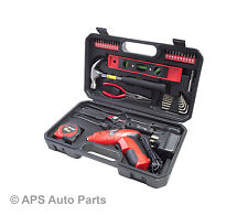 39 Piece Assorted Tool Kit Spanner Cordless Screwdriver Tape Wrench Plier  Bar