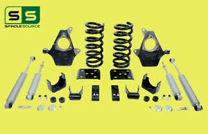 "3""/5"" Drop Spindle Kit + Shocks Fits 99-06 Chevy Silverado/GMC Sierra 1500 V8"