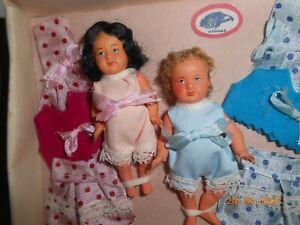 """Très rare baigneurs-poupées """"PetitCollin"""" en boite"""