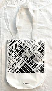 LULULEMON Reusable Shopping Bag - Small - White MANIFESTO Tote
