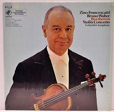 """BRUNO WALTER / ZINO FRANCESCATTI """"Beethoven Violin Concerto"""" Columbia Y30042  NM"""