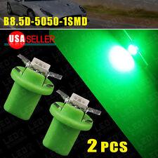 2x Vivid Green T5 B8.5D 5050 1-SMD Dashboard Cluster Gauge Side Light LED Bulbs
