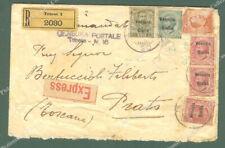 Colonie - Occupazioni. VENEZIA GIULIA. Raccomandata espresso del 1918 da Trieste