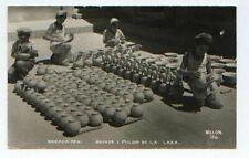 pc1458 postcard OAXACA Mexico Pottery sales Real Photo