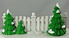 Dept 56 Snow Village Frosty Tree-lined Picket Fence Christmas 52078 Metal
