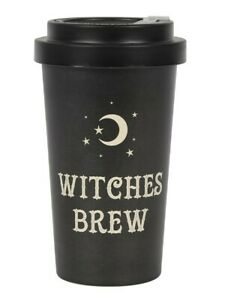 Travel Mug Witches Brew Eco Bamboo Black 9x15x9cm