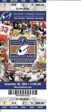 2005 Music City Bowl Ticket Stub - Virginia vs Minnesota