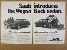 1974 Saab 99 WagonBack car photo vintage print Ad