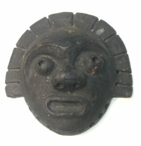 Mayan Face Wall Art Ceramic Weathered Collectible