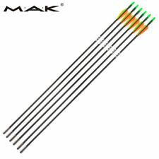 "6pcs Fiberglass Arrows Orange Green Plastic Vanes 30"" Shaft Archery Sports Hunt"