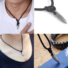 Unisex's Fashion Jewelry Silver Bullet Pendant Necklace With Chain For Mens