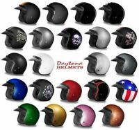 Daytona Helmets Daytona Cruiser 3/4 Open Face Motorcycle Helmet Metal Flake Dot