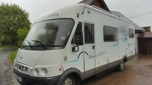 Hymer B644 A-Class 6 berth fixed bed large garage motorhome for sale