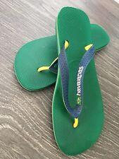 Fantastic havaianas Brasil flip flops Green, Yellow & Blue Size Uk 6.5