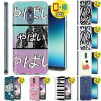 Gel Design Protective Phone Case Cover for LG Stylo 4,Yabai Print,Tempered Glass
