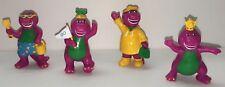 Vintage 1993 Barney Dinosaur Cake Topper Figure Lot of 4 Lyons Unique Figurine