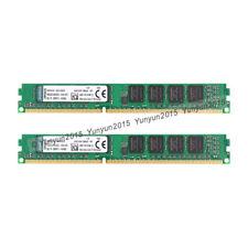 New Kingston 4GB Kit (2X 2GB) DDR3-1600MHz PC Desktop Memory DIMM RAM PC3-12800