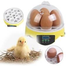 Automatic Digital Egg Incubator 7 Eggs Mini Poultry Chicken Duck Hatchers