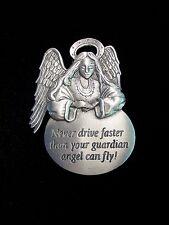 """JJ"" Jonette Jewelry CAR Visor Clip 'Never Drive Faster than Guardian Angel'"