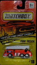 """MATCHBOX (EXTENDING LADDER) FIRE TRUCK #18 1994 FIRE DEPT """"4"""""""