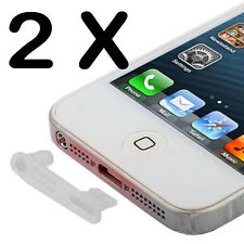 2 x Staubschutz Kappe Stöpsel für Iphone 5/5S/5C Lightning + Audio Schutz Wasser