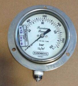 Pressure Gauge, Budenberg Premium Range, TEST GAUGE 13181827