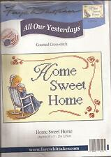 "Counted Cross Stitch All Our Yesterdays 7"" x 5"" Home Sweet Home (073-34)"