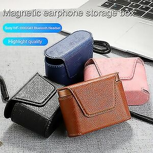 Leather Case Protective Earphone Storage Box for Sony WF-1000XM3 Headset Case MV