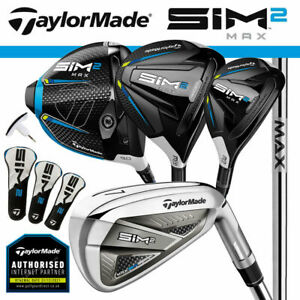 TaylorMade SIM 2 Max Men's Golf Package Set Steel (Driver+3W+4H+5-SW) NEW! 2021