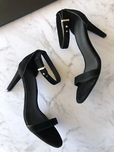 country road : natalie suede black heels size: 38.39.40.41 new $189 7.8.9.10