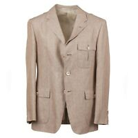 d'Avenza Extrafine Linen Blazer with Buttoned Pockets 40R (Eu 50) Sport Coat
