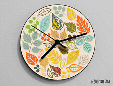 Autumn Leaf Color Wall Clock