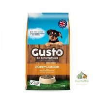 12KG GUSTO PUPPY / JUNIOR COMPLETE DRY DOG FOOD WITH POULTRY, BEEF & VEGETABLES