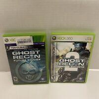 Microsoft Xbox 360 2 Game Lot Tom Clancys Ghost Recon